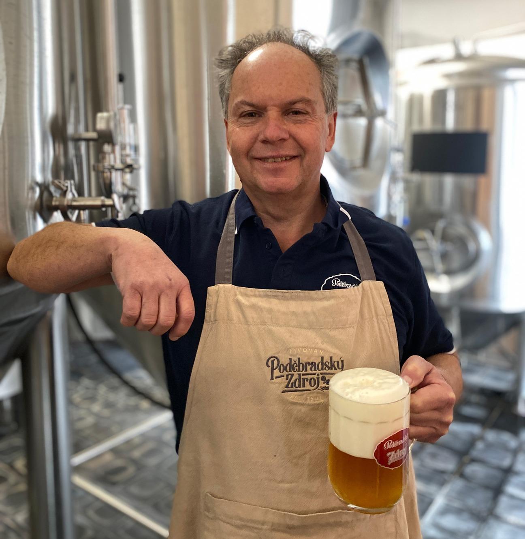 Sládek poděbradského pivovaru